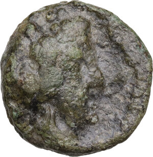 obverse: Greek Italy, uncertain mint.  Capua or Minturnae(?) . AE 16 mm. Late 90s-early 80s BC