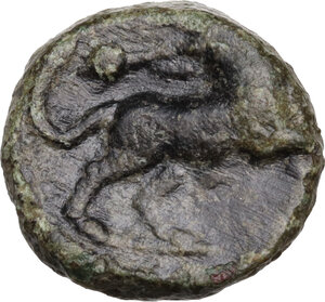 reverse: Greek Italy, uncertain mint.  Capua or Minturnae(?) . AE 16 mm. Late 90s-early 80s BC
