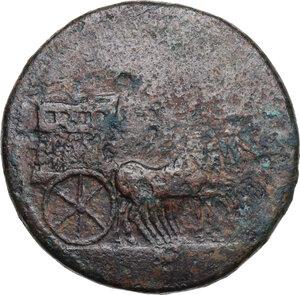 obverse: Tiberius (14-37 AD).. AE Sestertius, 36-37 AD