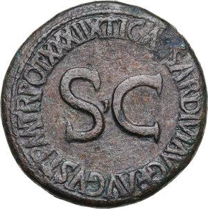 reverse: Tiberius (14-37 AD).. AE Sestertius, 36-37 AD