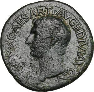 obverse: Drusus (died 23 AD).. AE As. Struck under Tiberius, 21-22 AD