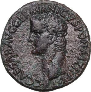 obverse: Germanicus (died 19 AD).. AE As. Struck under Claudius, c. 37-38 AD