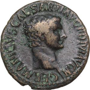 obverse: Germanicus (died 19 AD).. AE As. Struck under Claudius, 50-54 AD