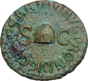 obverse: Gaius (37-41).. AE Quadrans, 40-41