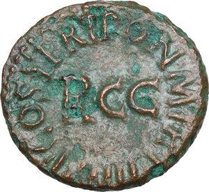reverse: Gaius (37-41).. AE Quadrans, 40-41