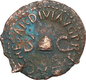 obverse: Gaius (37-41).. AE Quadrans. Struck 40-41 AD