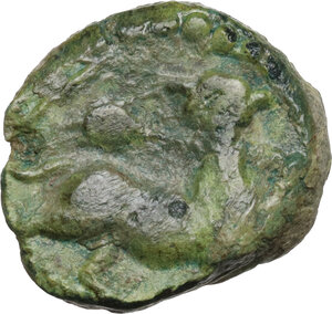 reverse: Central Italy, uncertain mint.  Capua or Minturnae(?) . AE 17 mm. Late 90s-early 80s BC
