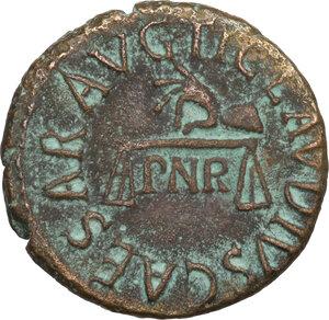 obverse: Claudius (41-54).. AE Quadrans, c. 41-42 AD