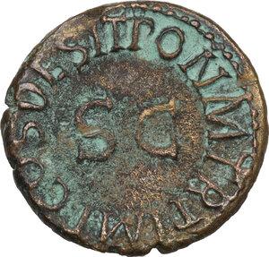 reverse: Claudius (41-54).. AE Quadrans, c. 41-42 AD