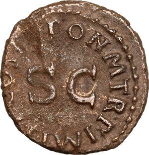reverse: Claudius (41-54).. AE Quadrans. Rome mint. Struck 42 AD