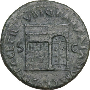 reverse: Nero (54-68).. AE As, c. 65 AD