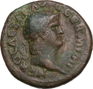obverse: Nero (54-68).. AE As, c. 65 AD