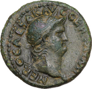 obverse: Nero (54-68).. AE As, c. 64 AD