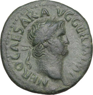 obverse: Nero (54-68).. AE As, 65 AD