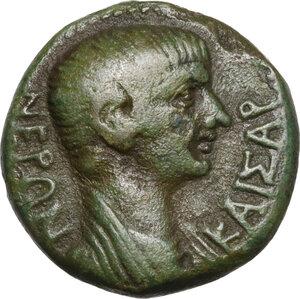 obverse: Nero Caesar (50-54).. AE 17.5 mm. Hierapolis mint(?) (Phrygia). Circa 55 AD