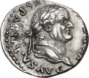 obverse: Vespasian (69-79 AD).. AR Denarius, 74 AD
