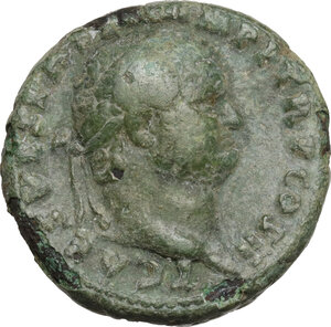 obverse: Titus as Caesar (69-79).. AE As, 72 AD