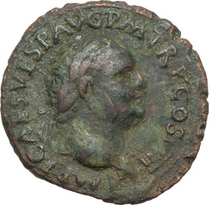 obverse: Titus (79-81).. AE As, 80-81