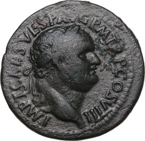 obverse: Titus (79-81).. AE As, struck 80-81 AD
