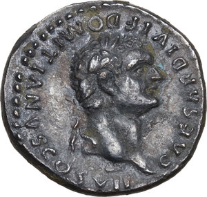 obverse: Domitian as Caesar (69-81).. AR Denarius. Struck under Titus, 80-81 AD