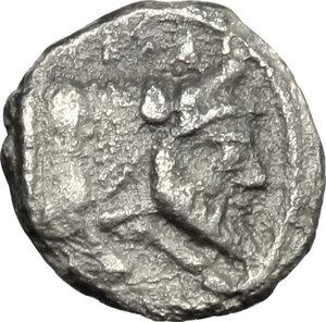 obverse: Gela. AR Obol, before 405 BC