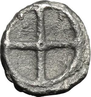 reverse: Gela. AR Obol, before 405 BC