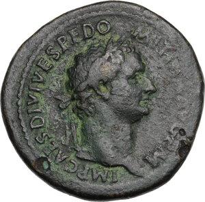obverse: Domitian (81-96).. AE Sestertius, 81 AD