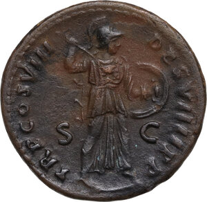 reverse: Domitian (81-96).. AE As. Struck 82 AD