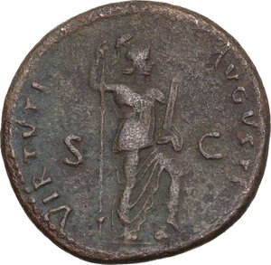 reverse: Domitian (81-96).. AE As, 86 AD