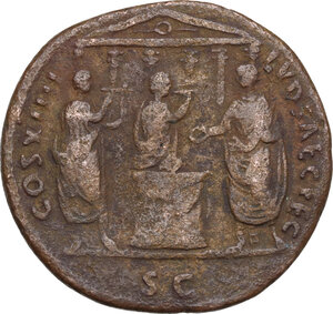 reverse: Domitian (81-96).. AE As. Ludi Saeculares (Secular Games) issue. Rome mint. Struck 14 September-31 December 88 AD