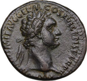 obverse: Domitian (81-96).. AE As, c. 92-94 AD