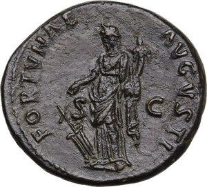 reverse: Domitian (81-96).. AE As, c. 92-94 AD