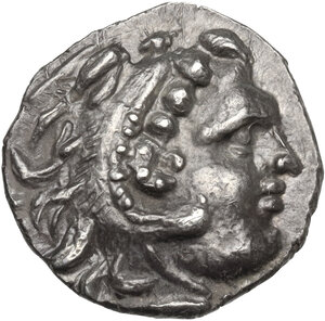 obverse: AR Drachm, Celtic imitation of the type of Alexander III the Great. c. 300 BC