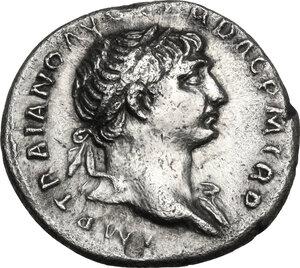 obverse: Trajan (98-117).. AR Denarius, 103-111