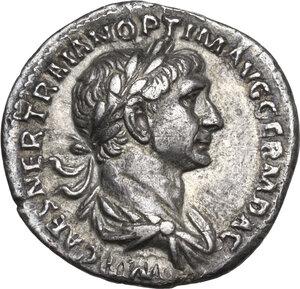 obverse: Trajan (98-117).. AR Denarius, 116-117 AD