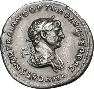 obverse: Trajan (98-117).. AR Denarius, 114-117 AD