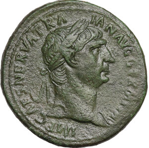 obverse: Trajan (98-117).. AE Sestertius, struck 98-99 AD