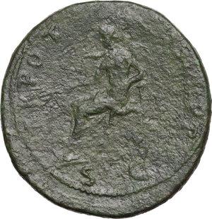 reverse: Trajan (98-117).. AE Sestertius, struck 98-99 AD