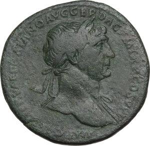 obverse: Trajan (98-117 AD).. AE Sestertius, 103-111 AD