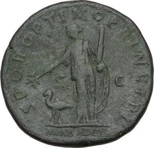 reverse: Trajan (98-117 AD).. AE Sestertius, 103-111 AD