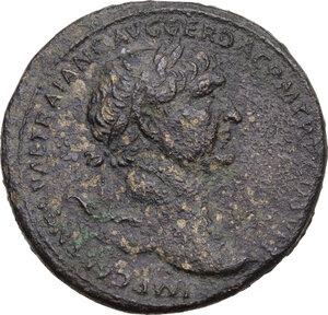 obverse: Trajan (98-117).. AE Sestertius, 103-111