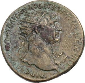 obverse: Trajan (98-117).. AE Dupondius, 114-117 AD