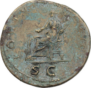 reverse: Trajan (98-117).. AE Dupondius, 114-117 AD