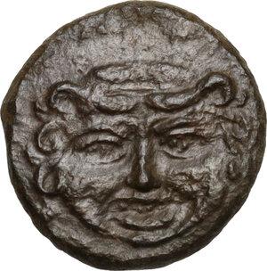 obverse: Kamarina. AE Onkia, 425-405 BC