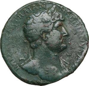 obverse: Hadrian (117-138).. AE Sestertius, 121-123
