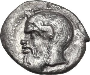 obverse: Katane. AR Litra, c. 460 BC