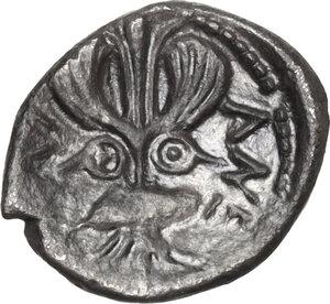 reverse: Katane. AR Litra, c. 460 BC
