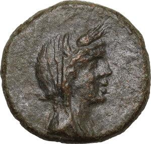 obverse: Menaion.  Roman Rule.. AE 16 mm, 2nd century BC