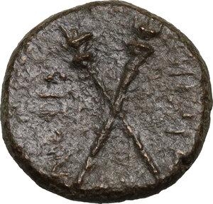 reverse: Menaion.  Roman Rule.. AE 16 mm, 2nd century BC