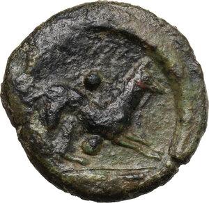 reverse: Segesta. AE Hexas, 416-415 BC